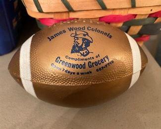 Greenwood Grocery Souvenir Football (James Wood Colonels Football)