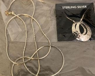 Sterling Necklace and Earrings