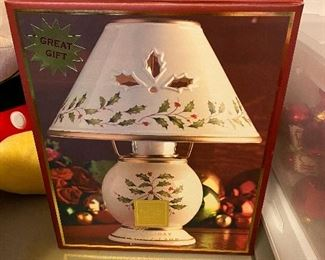 Lenox Holiday Candle Lamp in Box