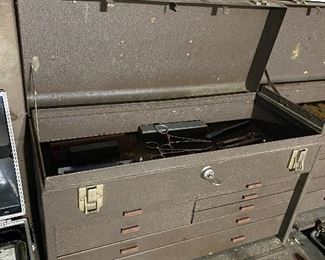 Vintage Kennedy Machinist's Tool Boxes with Keys