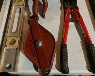 Metal Pulley, Level, Cutters