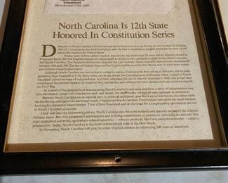 N.C. First Day Cover