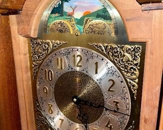 Detail pic Emperor Clock face with gorgeous Stag at Sunset