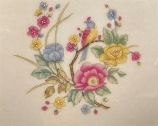 Detail pic Crown Ming China Pattern: Jian Shiang- Tranquility Bird and Floral pattern White China