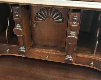Interior of secretary-hidden compartments
