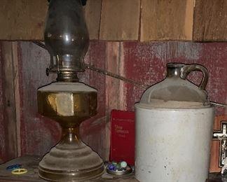Stoneware & Oil Lamps