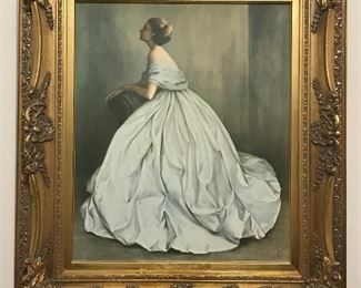 Gold gilt framed painting signed by artist JBL 1969 Titled Sound of Music