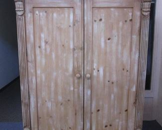 """Armoire by Ficks Reed, Country Casual Collection.              Entire Bedroom Group is from this Series.  High Quality Furniture with Interesting Detailing! 54"""" X 25"""" X 85"""""""