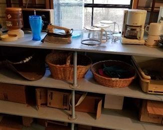 Appliances, baskets, etc