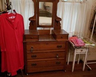 Eastlake dresser with mirror.