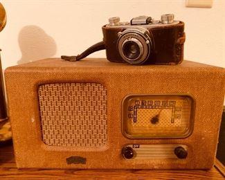 Antique Radio and Camera