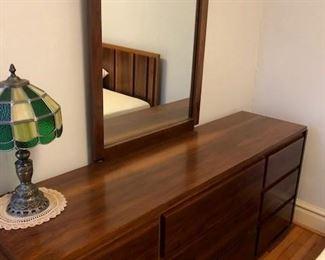 Lane Bedroom Set Includes , Lane 5 drawer Dresser, Lane 9 drawer dresser with Mirror and Double Bed Headboard BIN $800 https://share.hsforms.com/1S31RYHZpTWy0z_PaXy8lIQbojrf
