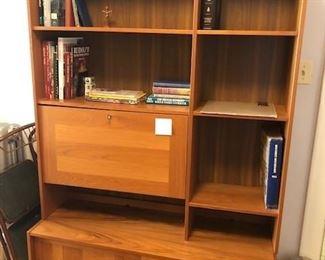 Teak Book shelf with drop down desk BIN $600 https://share.hsforms.com/1S31RYHZpTWy0z_PaXy8lIQbojrf