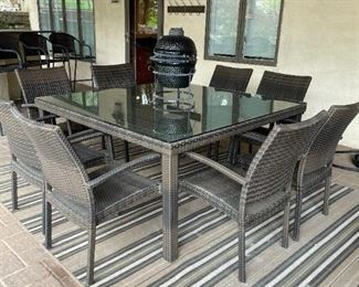 """Fortunoff 5Ft. Square Outdoor Table with 8 Chairs.  29"""" H"""