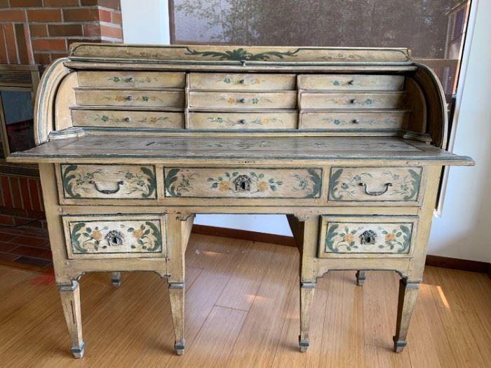 001m Antique Dutch RollTop Desk