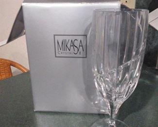 Set of 4 Mikasa crystal glasses