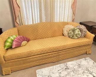 Long, low sofa