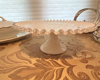 Fenton Silver Crest Spanish Lace cake plate. So pretty!
