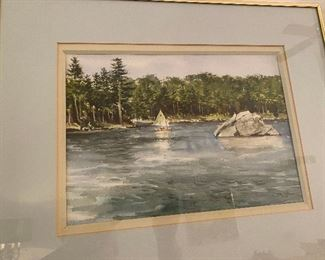 Watercolor by Connecticut artist John Neff