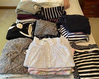Like new nighties, sweaters and tops