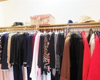 Coats, jackets, suits, robes. All size small.