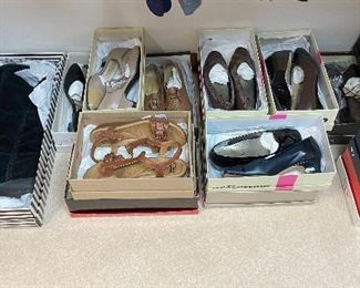 Shoes are size 7, Ross Hommerson, Clarks and others
