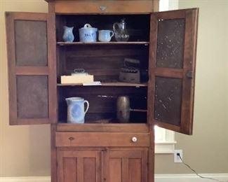 001 Antique Pie Safe and Vintage Accessories