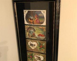 Antique framed post cards