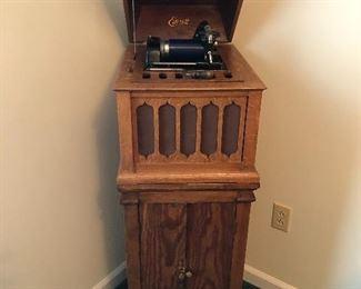 Edison Floor Phonograph w/cylinders!