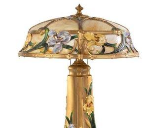 Art Nouveau Iris Panel Lamp