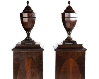 Georgian Style Cutlery Urns & Cabinet Pedestals