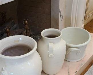 Milk-glazed pottery.