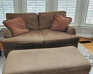 Haverty's couch and ottoman