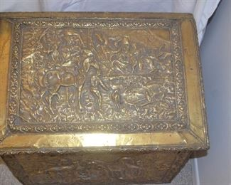 brass kindling box