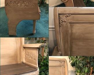 Bench handmade from a headboard ... beautiful design
