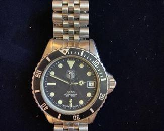 Vintage JAG Heuer 1000 Professional 980013b Divers Watch