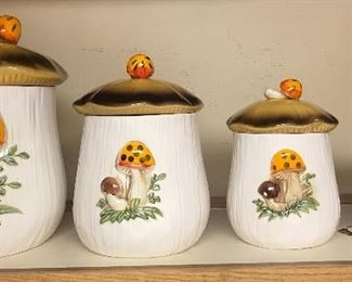 Merry Mushroom Canisters