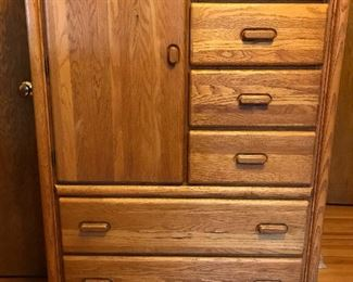 Oak armoire, matching pair available, sold separately