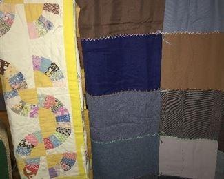 Vintage child's quilt, twin size quilt