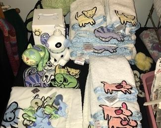 Dog towels and bathroom accessories