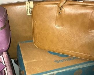 Samsonite Toffee carry on and suitcase