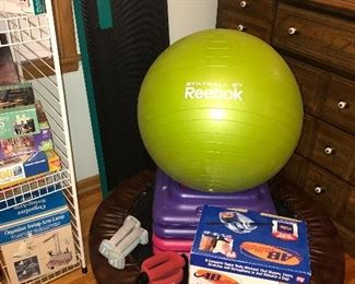 Exercise equipment, Ab Roller, exerciser, Step up, Stayball, hand weights