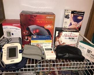 Blood pressure monitors, massagers