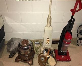 Rainbow vacuum, Regina floor scrubber, Dirt Devil vacuum
