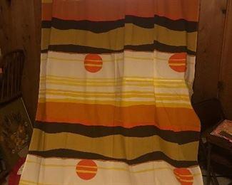 Retro sunset curtain