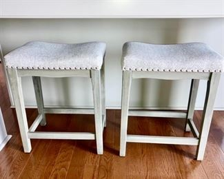 Two matching island chairs/stools