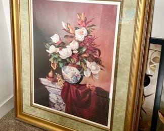 Flower framed artwork