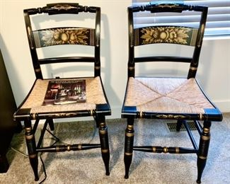 Two Hitchcock chairs (reproduction of original chairs) in excellent condition