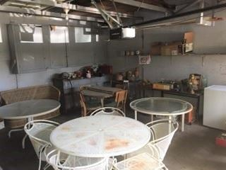 There are a few garage or patio items available.