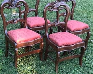 Set of 4 Victorian Chairs $320
